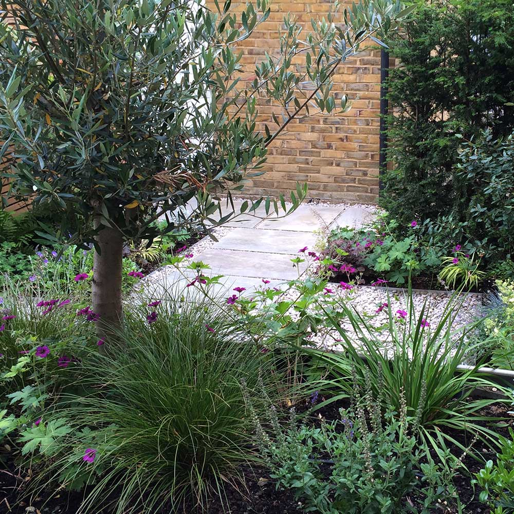 Chic courtyard garden, East Molesey